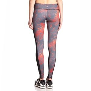 Vimmia Orange Gray Splatter Print Leggings